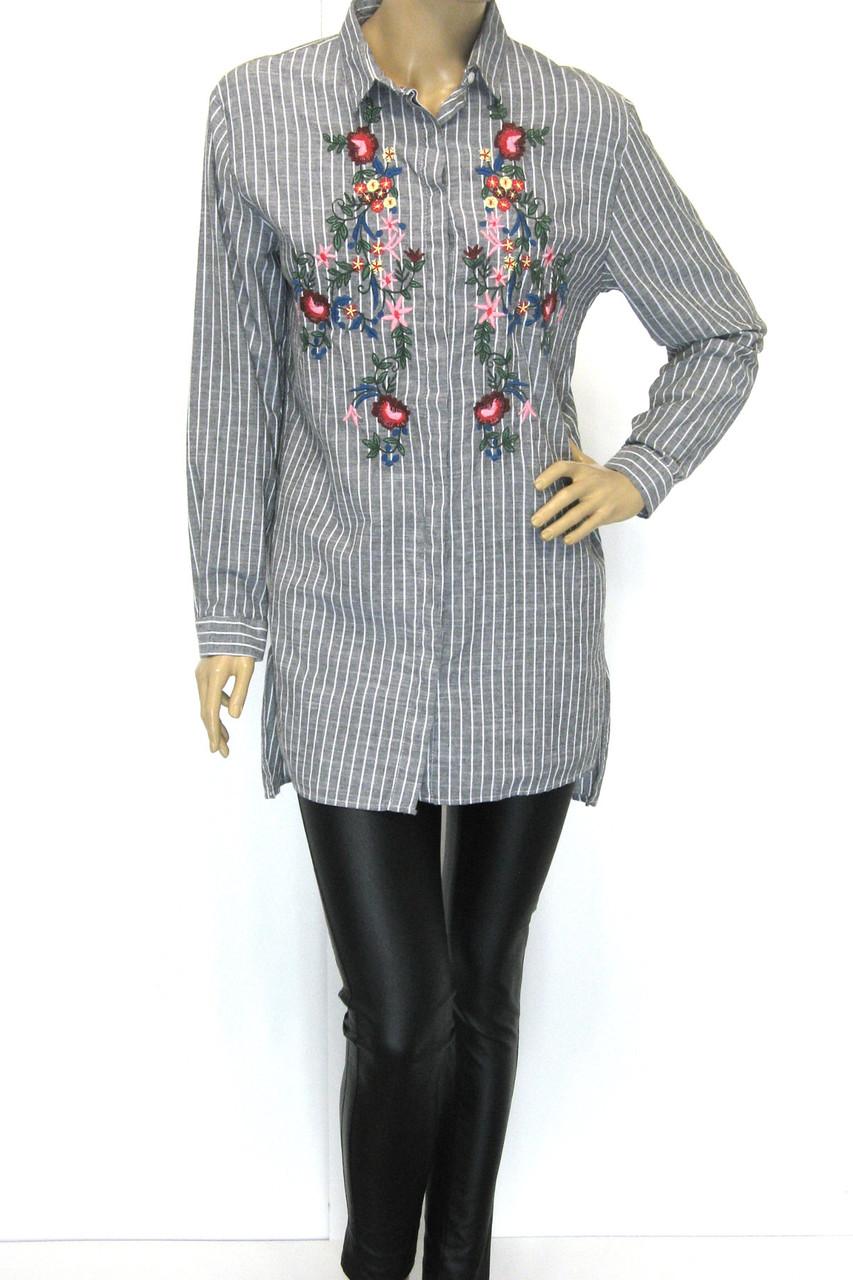58365da4f8bd Модная женская рубашка-туника с вышивкой большого размера - магазин ШАЛЕНА  МОДА Львів вул.