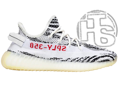Жіночі кросівки Adidas Yeezy Boost 350 v2 Zebra Black/White CP9654, фото 2