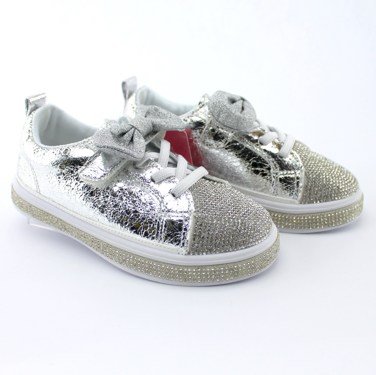 Детские кроссовки слипоны на девочку Стразы Бантик бренд Томм размер 26,28