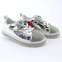 Детские кроссовки слипоны на девочку Стразы Бантик бренд Томм размер 26,28, фото 1