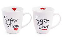 """Кружка Фарфоровая """"Super Dad, Super Mom"""" 500мл (249-339), фото 1"""
