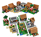 "Конструктор Lepin Minecraft 18010 ""Деревня"" 1106 деталей., фото 7"