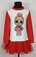 Платье детское для девочки Лол р. 122-140 красный, фото 1