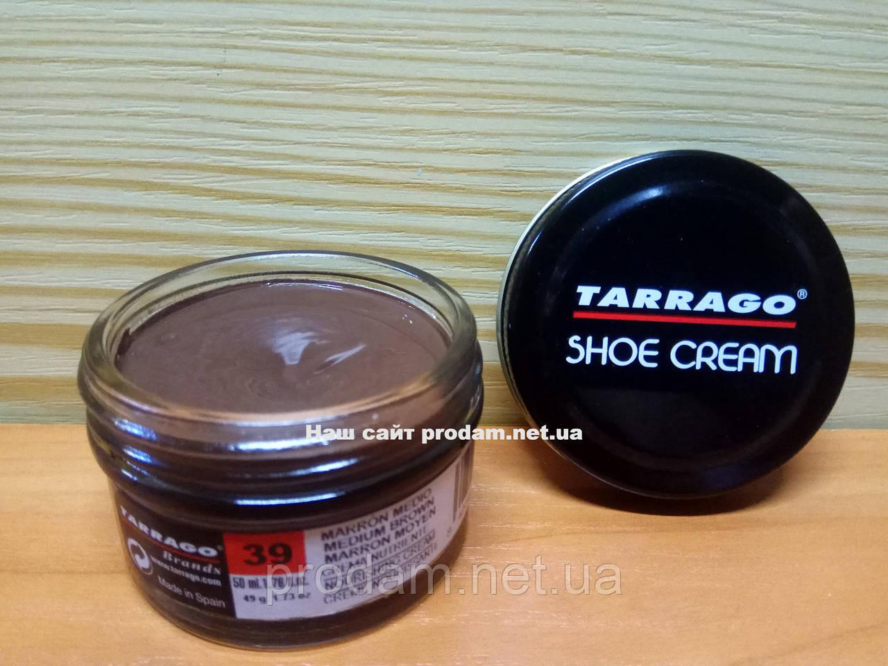 Крем для взуття Tarrago 50 мл колір середньо коричневий