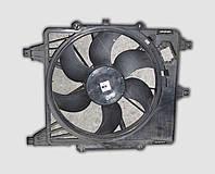 Диффузор вентилятора радиатора Рено Клио  в сборе с вентилятором и мотором б/у