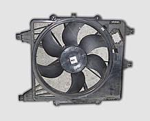 Дифузор вентилятора радіатора Рено Кліо в зборі з вентилятором і мотором б/у