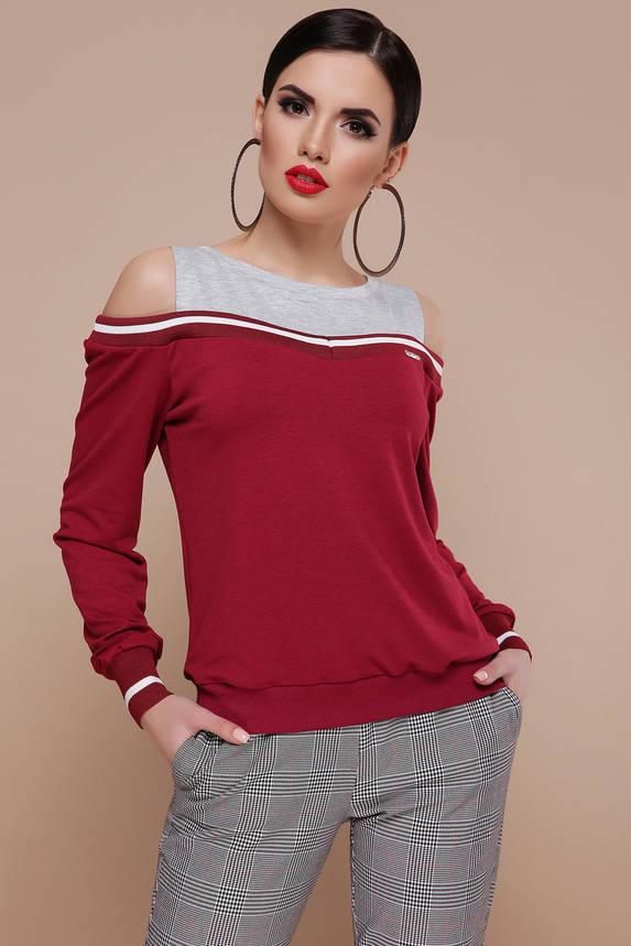 Модная кофточка свитшот с открытыми плечами, фото 2