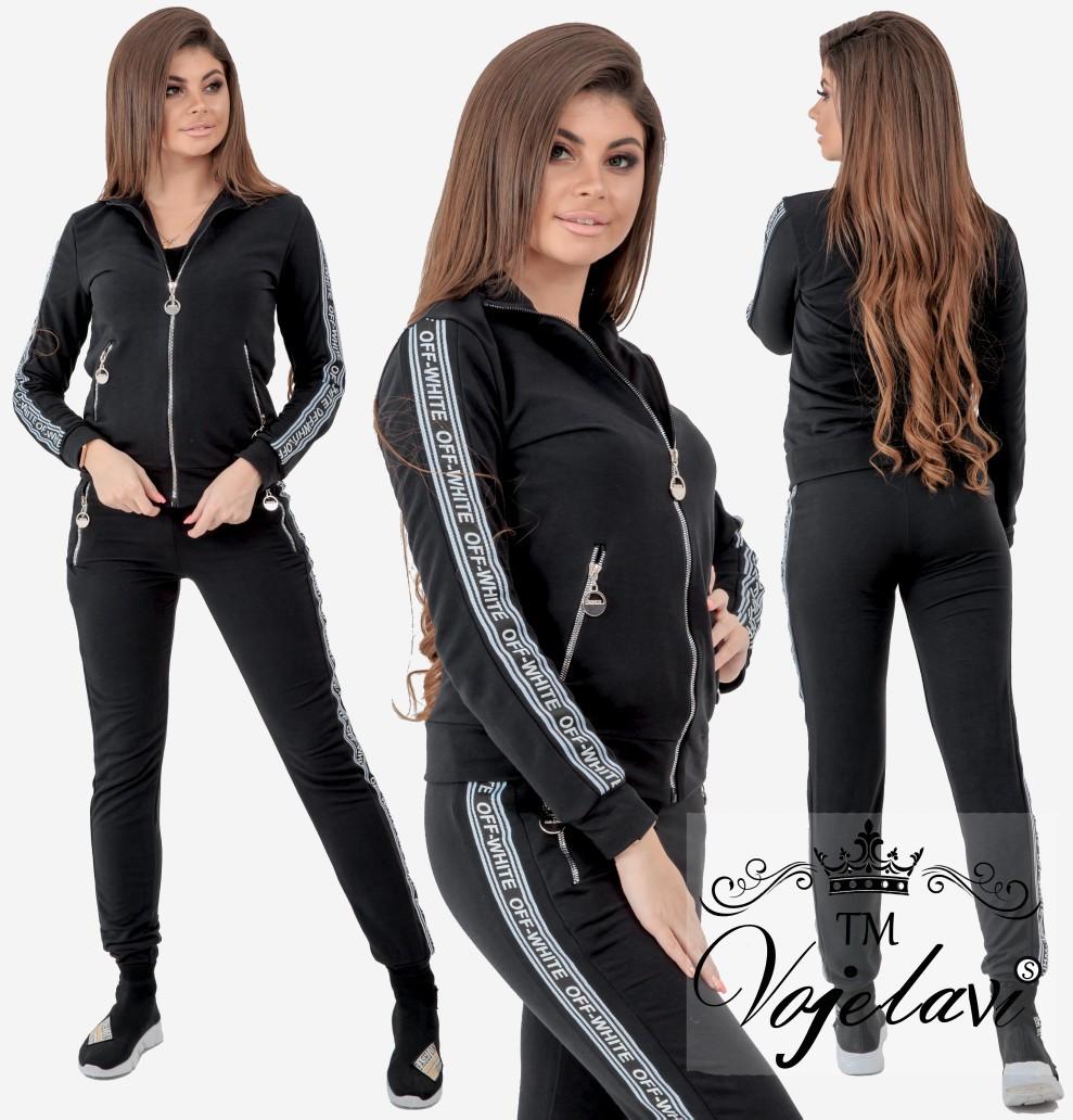 623fef66169 Женский трикотажный спортивный костюм 1064 44 оптом и в розницу ...