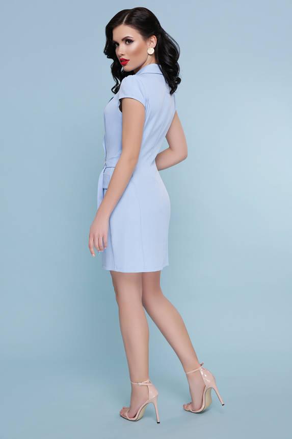 Голубое платье с запахом короткое, фото 2