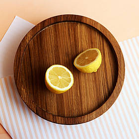 Круглая дубовая тарелка LAS 25 см 1402-SCL