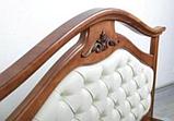 Кровать двуспальная Маргарита 1,8 м ольха массив, фото 3