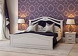 Кровать двуспальная Маргарита 1,8 м ольха массив, фото 4