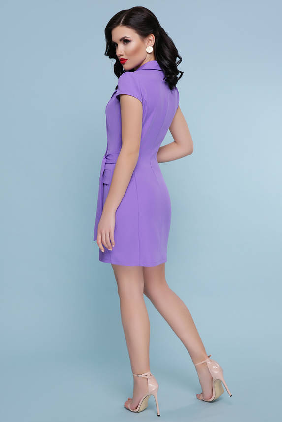 Короткое платье на запах сиреневое , фото 2