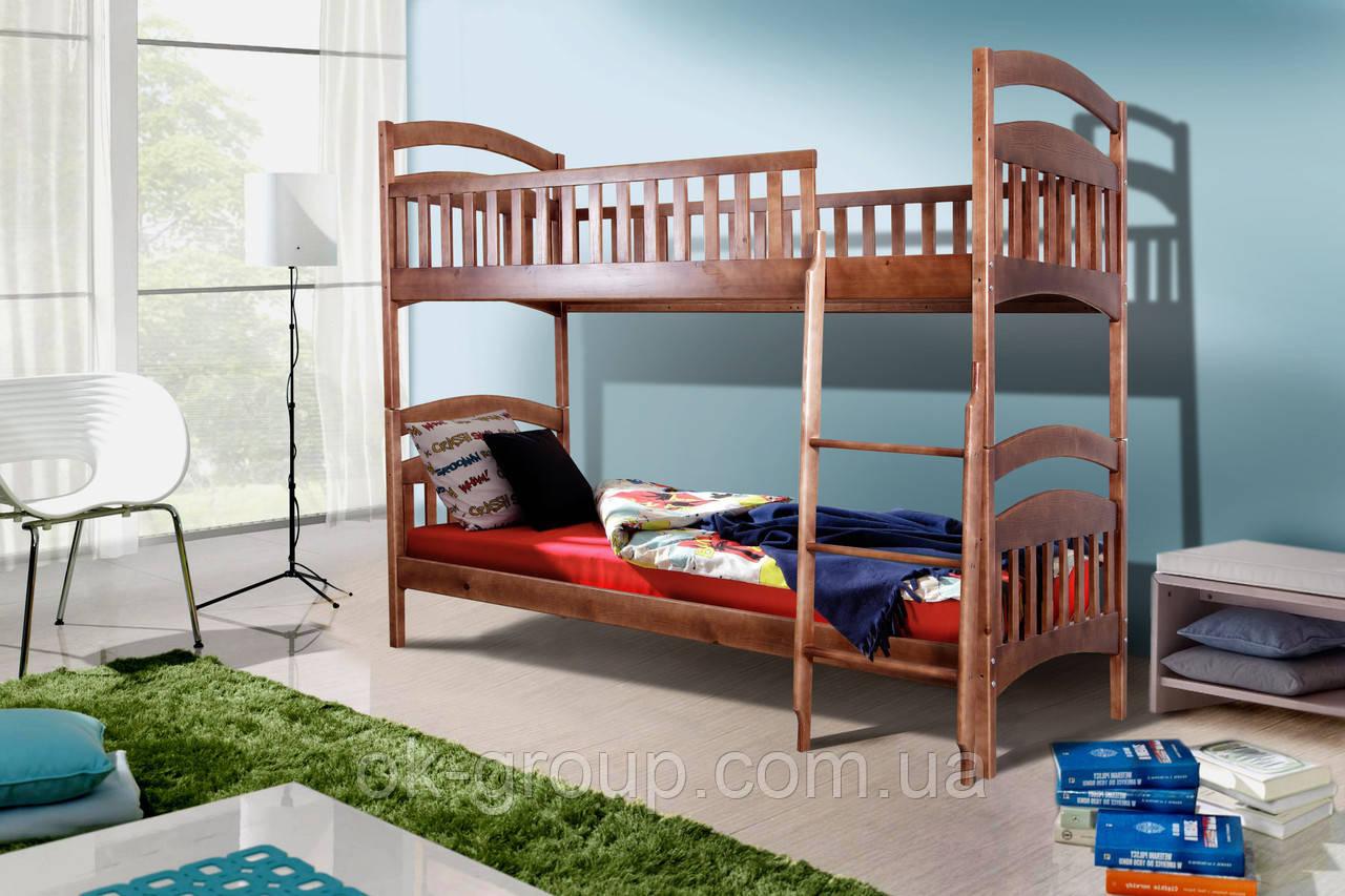 Кровать двухярусная деревянная детская Кира
