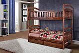Кровать двухярусная деревянная детская Кира, фото 2