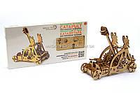 Деревянный конструктор Wood Trick Катапульта.Техника сборки - 3d пазл, фото 1