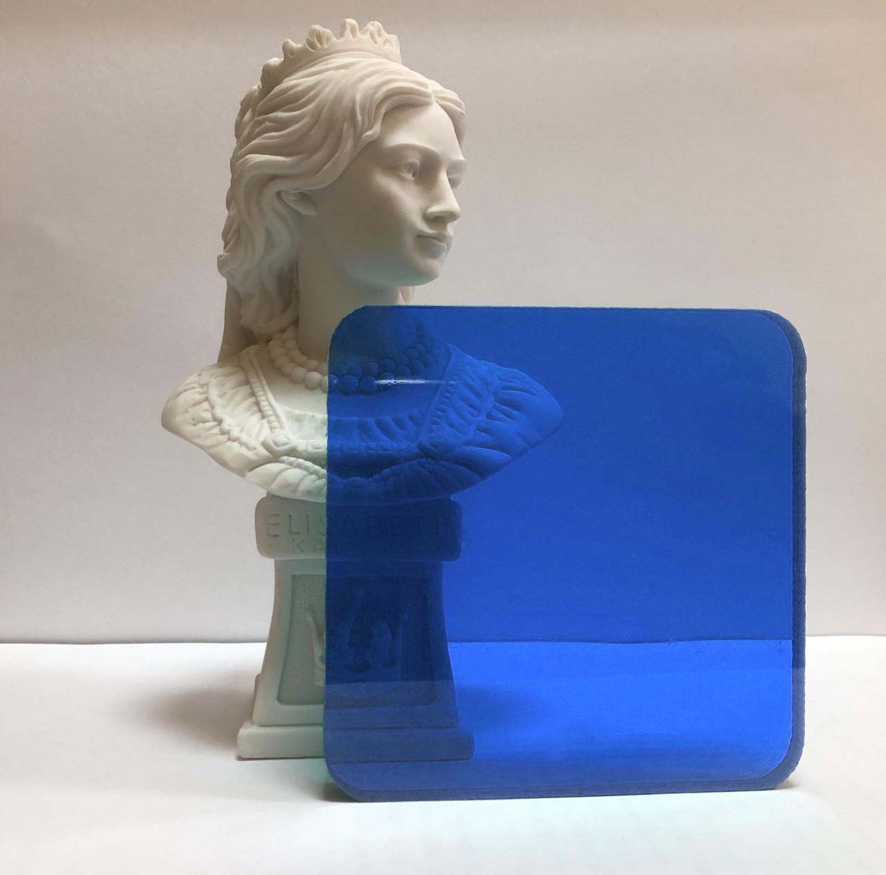 Монолитный поликарбонат Borrex 2мм синий 2050х6100мм
