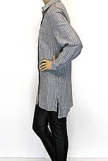 Рубашка-туника с вышивкой большого размера в полоску, фото 3