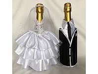 Украшение свадебных бутылок для шампанского