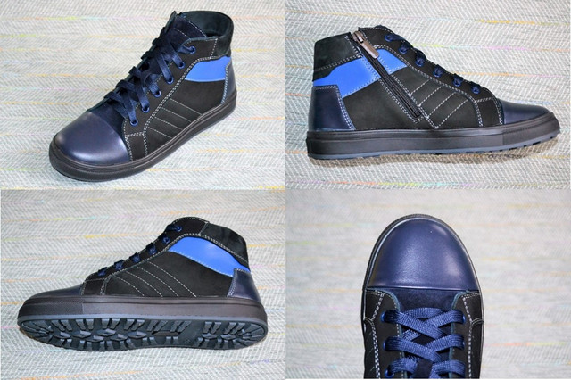 Кожаные ботинки на мальчика, Мальвы фото