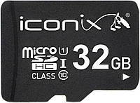 Карта памяти microSDHC 32Gb ICONIX (Class 10) + Adapter SD, фото 1