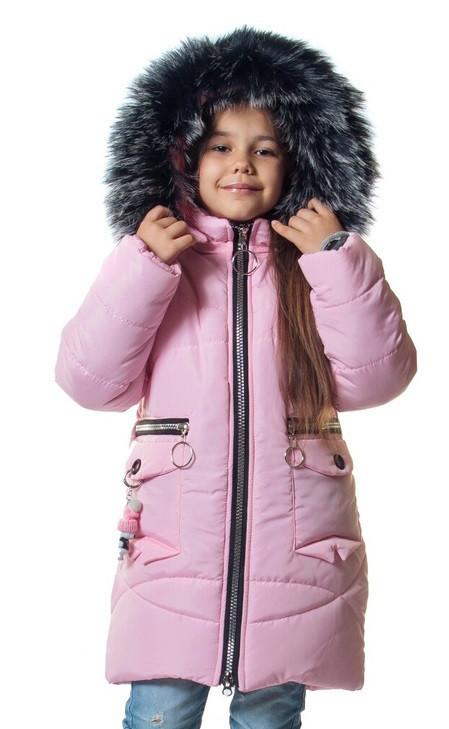 5eceaef1ebac Детский зимний пуховик для девочек интернет магазин 26-32 розовый -  Ukraine-textile в