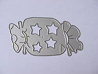 Ніж для вирубки з паперу та картону. Цукерка, 35х73 мм