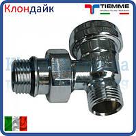 Кран радиаторный угловой нижний хром TIEMME 1/2 НН