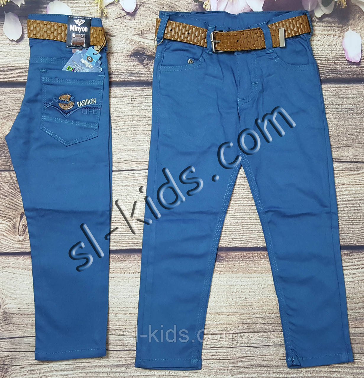 Яркие штаны,джинсы для мальчика 8-12 лет(бирюза) опт пр.Турция