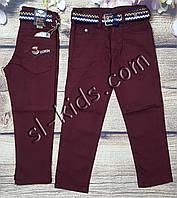 Яркие штаны,джинсы для мальчика 8-12 лет(бордо) розн пр.Турция