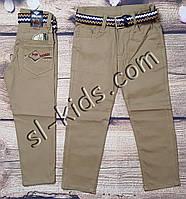 Яскраві штани,джинси для хлопчика 8-12 років(світло-коричневі) опт пр. Туреччина