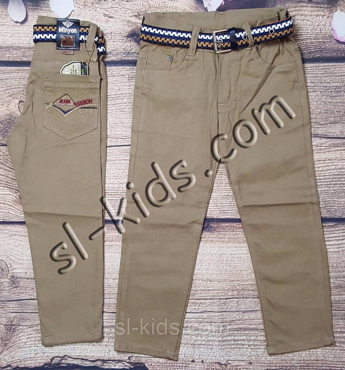 Яркие штаны,джинсы для мальчика 8-12 лет(светло коричневые) опт пр.Турция