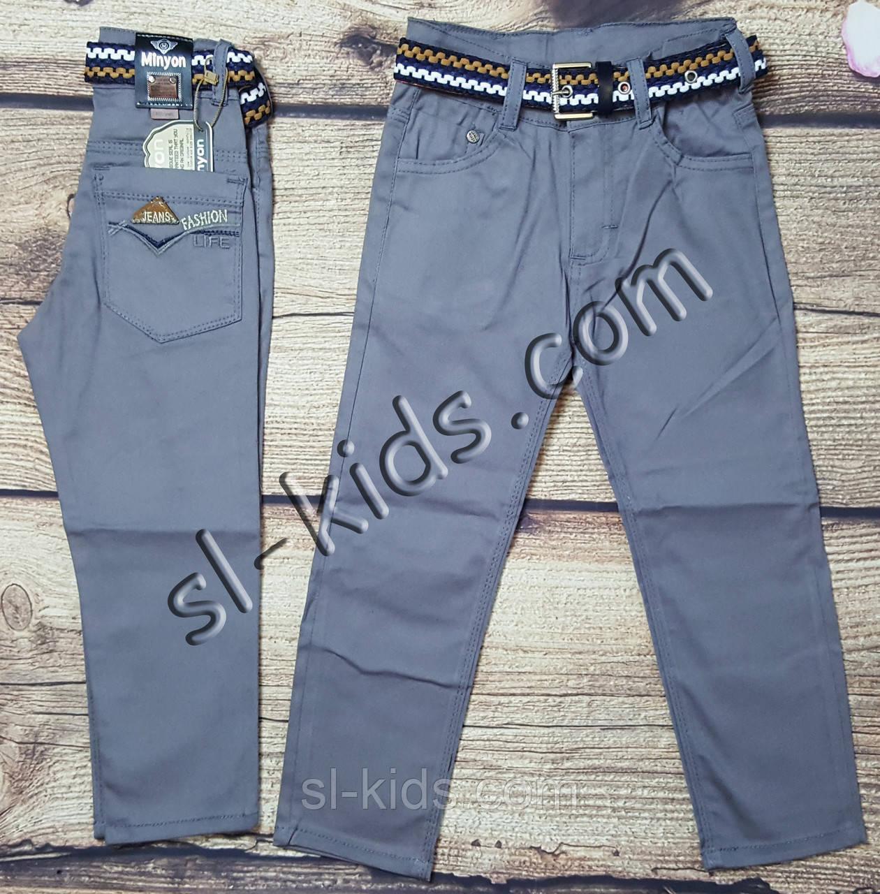 Яркие штаны,джинсы для мальчика 8-12 лет(серые) опт пр.Турция