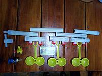 Комплект ниппельного поения на три двойных модуля, фото 1