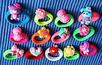 Детские резинки для волос, резинка микрофибра диаметром 3,5см, 20 связок по 5 штук(100 штук в коробочке)