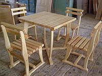 Комплект мебели из дерева (стол+ 4 стела)
