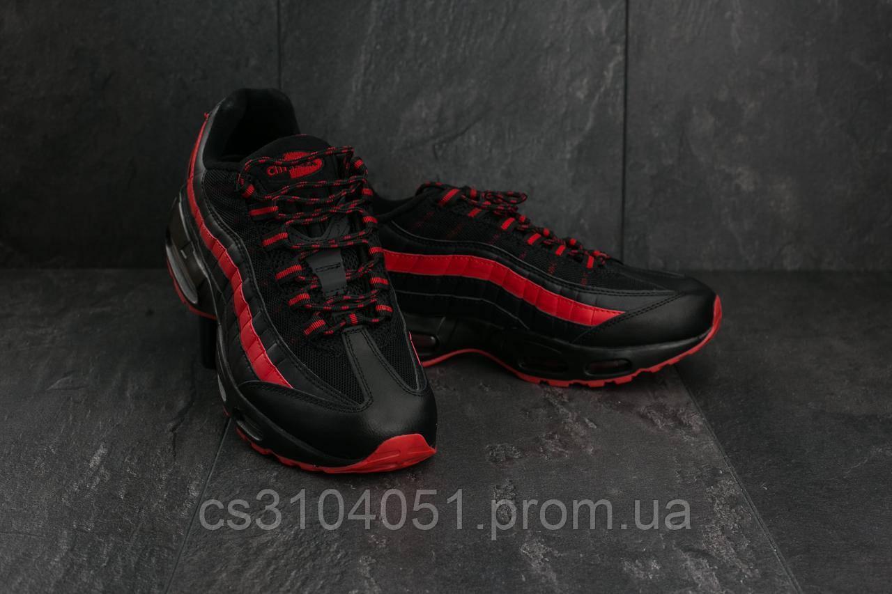 a8eb299b Кроссовки Nike Air Max 95 A 95-16 Кожзам 43 Черно-красный (ifr3uk ...