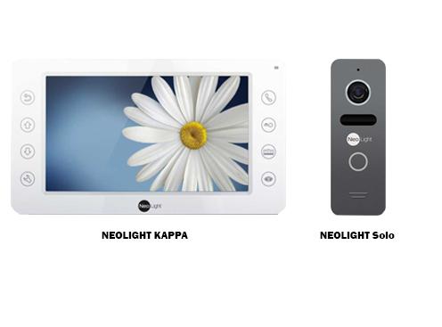 Комплект  видеодомофона Neolight Kappa с вызывной панелью Neolight Solo