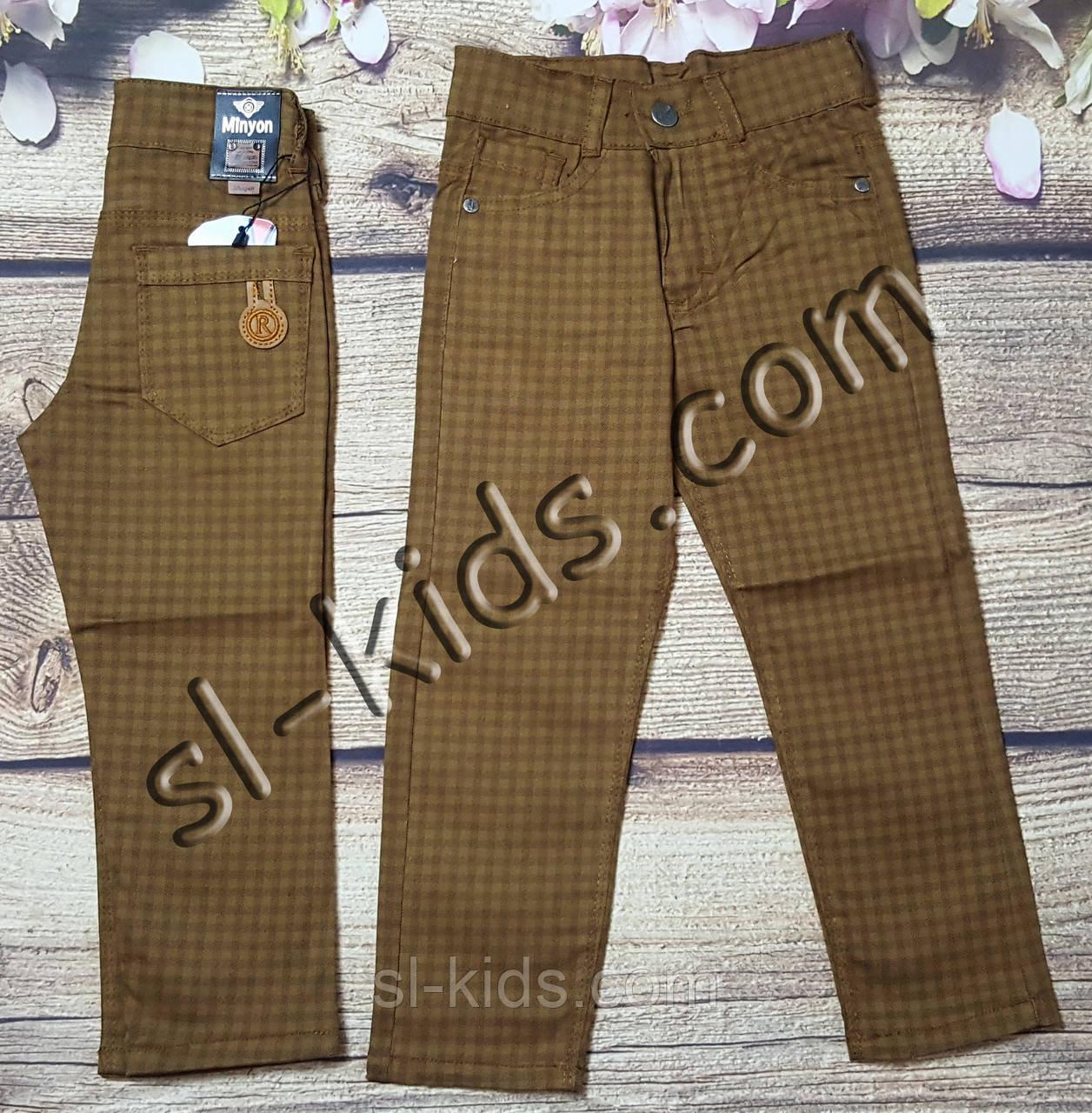 Яркие штаны,джинсы для мальчика 3-7 лет(клетка коричневые) розн пр.Турция