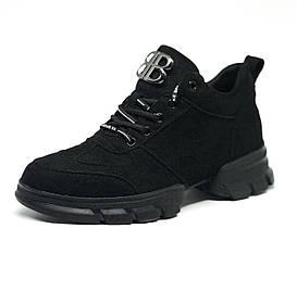 Женские замшевые кроссовки Черные,Коричневые