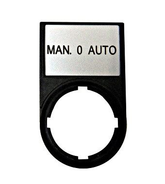 "Табличка+рамка ""MAN 0 AUTO"" Schrack"