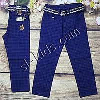 Яркие штаны,джинсы для мальчика 8-12 лет(клетка синие) розн пр.Турция