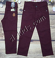 Яркие штаны,джинсы для мальчика 8-12 лет(клетка бордо) розн пр.Турция