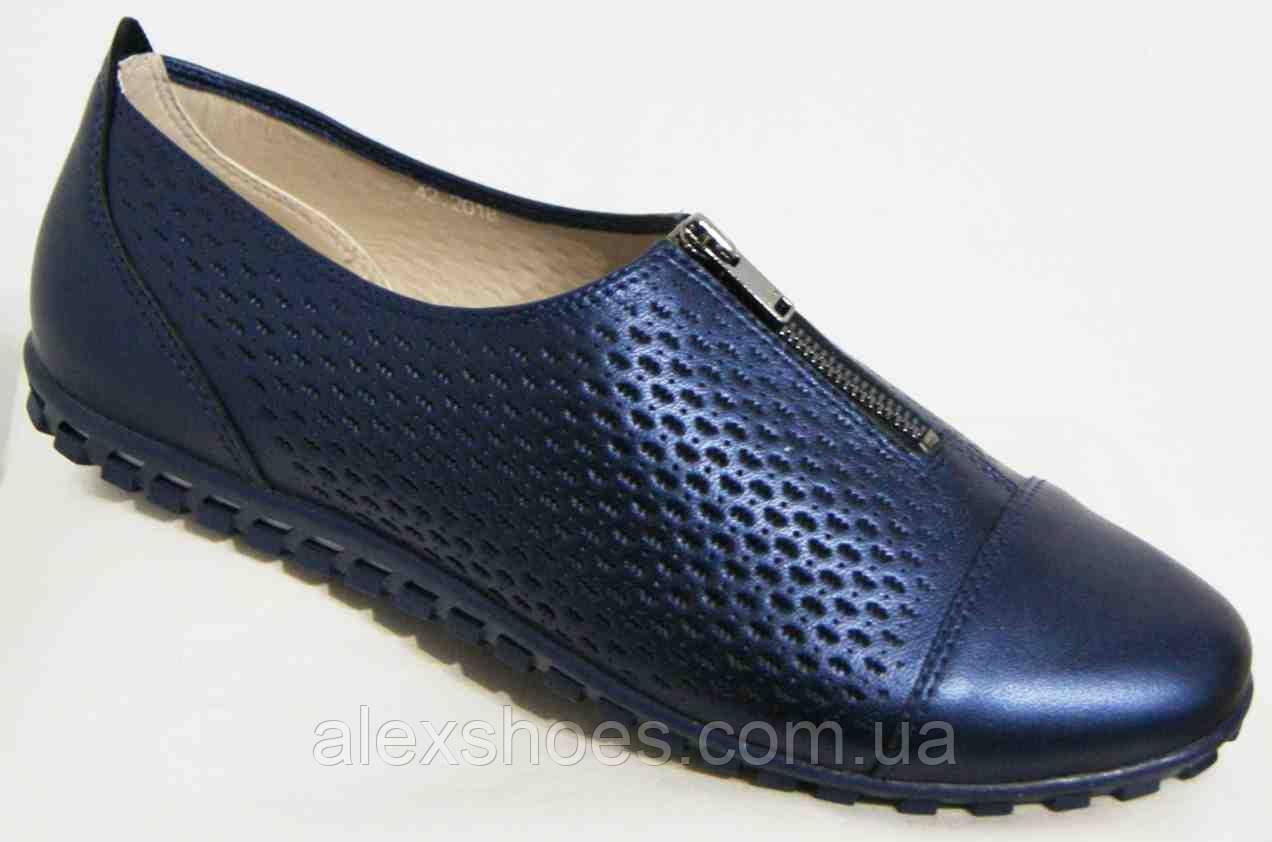 Туфли женские большого размера из натуральной кожи от производителя модель В5246-4
