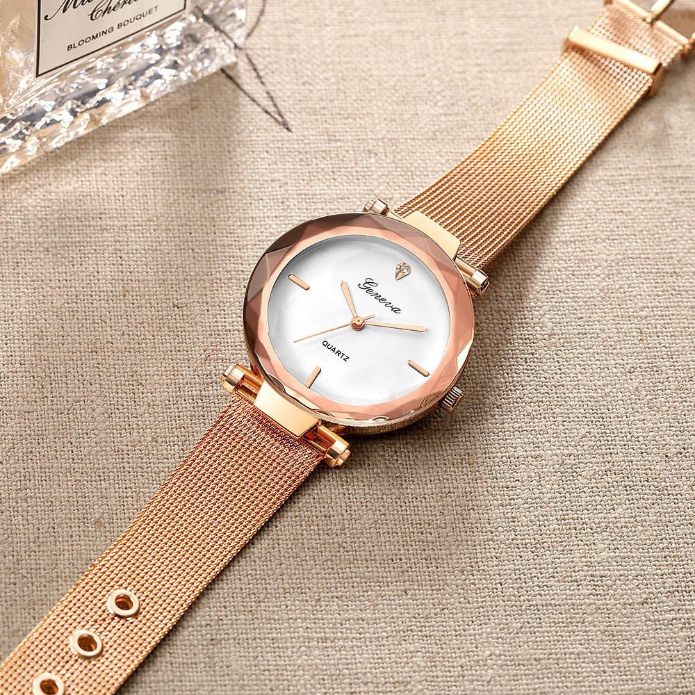 Жіночі годинники Geneva Shine rose gold white
