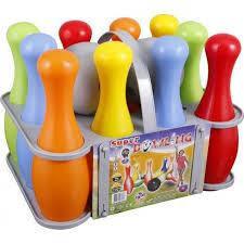 Игровой набор «Боулинг» 10 кеглей + 2 шара  Pilsan (Турция, фото 2