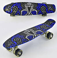 Скейт пенни борд F 6510  Best Board колеса ПУ, светящиеся