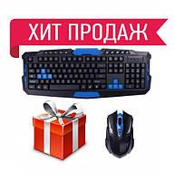 Беспроводная игровая клавиатура и мышь HK-8100, фото 1