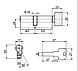 Цилиндровый механизм Apecs EM-90(50С/40)-C-G , фото 3