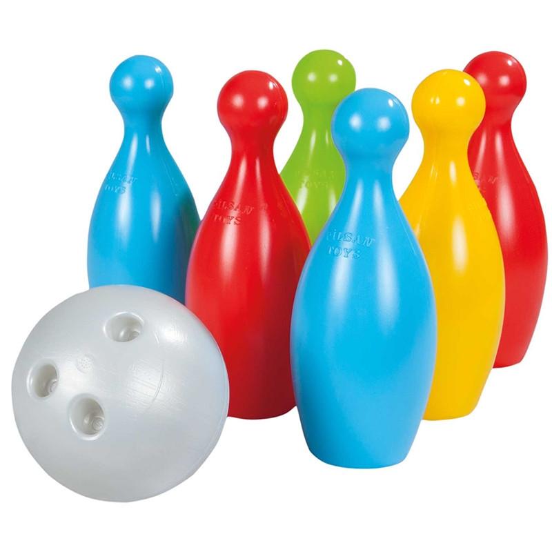 Игровой набор «Боулинг» 6 кеглей + 2 шара  Pilsan (Турция